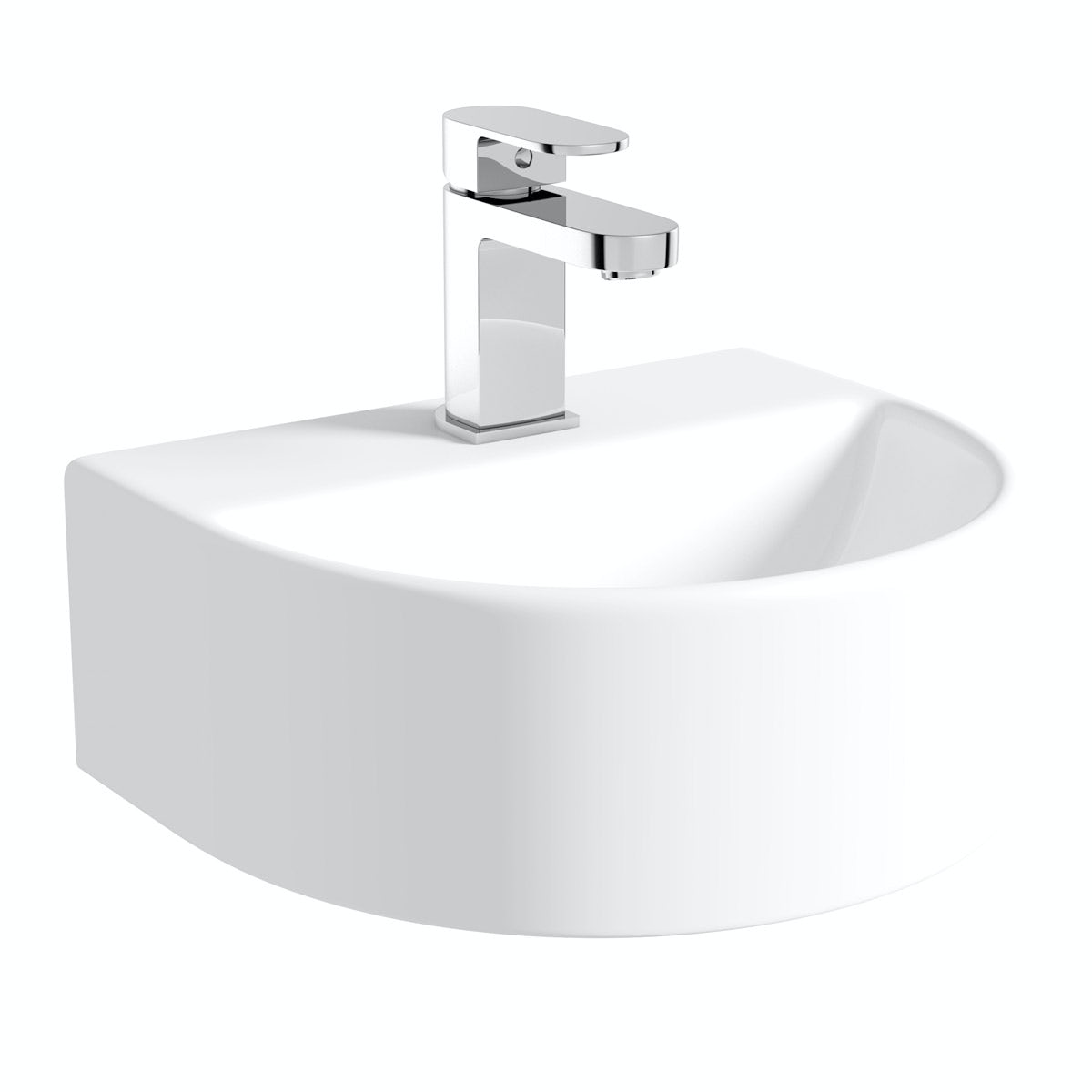 Orchard Pichola 1 tap hole wall hung basin 310mm