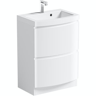 Harrison Snow 600 Floor Drawer Unit & Basin