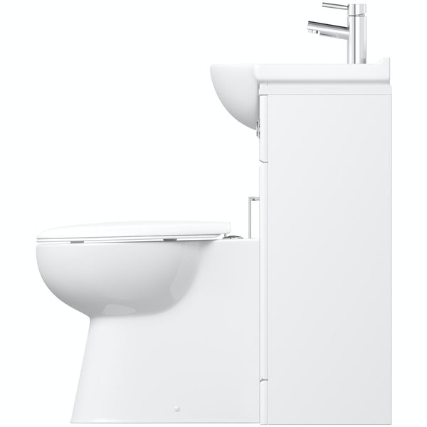Orchard Eden white 1140 combination with Clarity back to wall toilet
