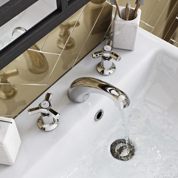 The Bath Co. Beaumont 3 hole basin mixer tap offer pack