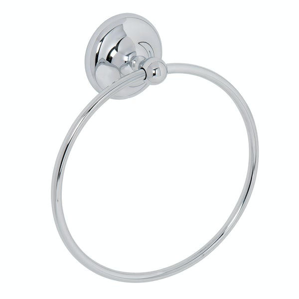 Croydex Grosvenor chrome towel ring