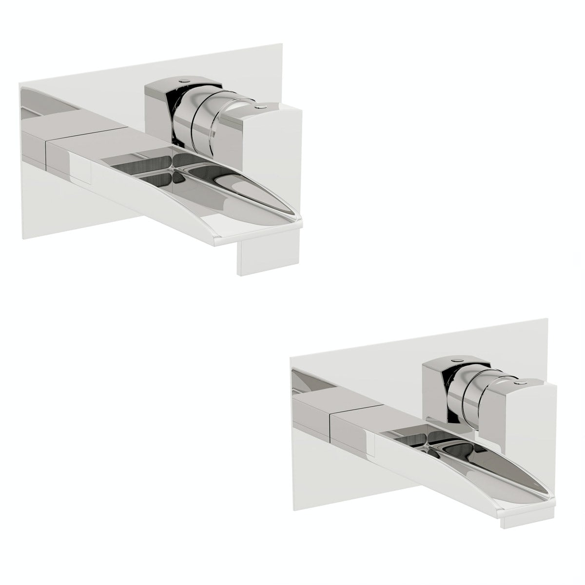 Mode Cooper wall mounted basin and bath mixer tap pack