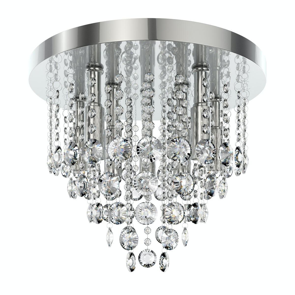 Lenah 380mm flush bathroom ceiling light