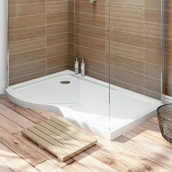 Orchard Curved Walk In Shower Enclosure Tray LH