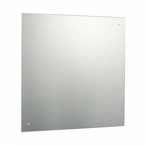 Square Bevelled Edge Drilled Mirror 60x60cm