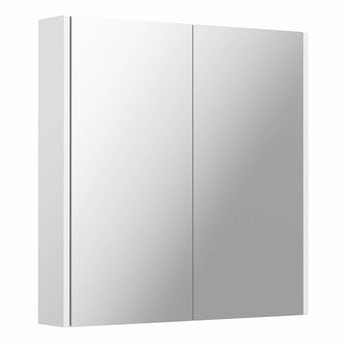 Clarity white 2 door bathroom mirror cabinet