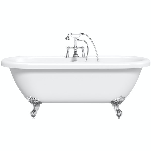 The Bath Co. Dulwich roll top bath with ball and claw feet