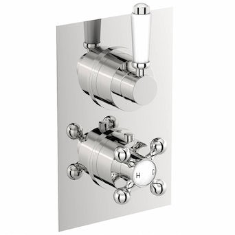Traditional Square Twin Valve with Diverter Special Offer
