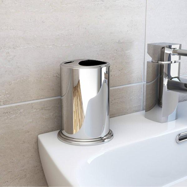 Options Freestanding Stainless Steel Toothbrush Holder