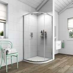 Simplicity 6mm single door quadrant shower enclosure 900 x 900