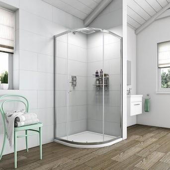 Simplicity 6mm One Door Quadrant Shower Enclosure 900