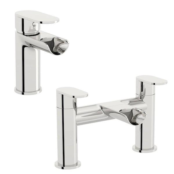 Eden basin and bath mixer tap pack