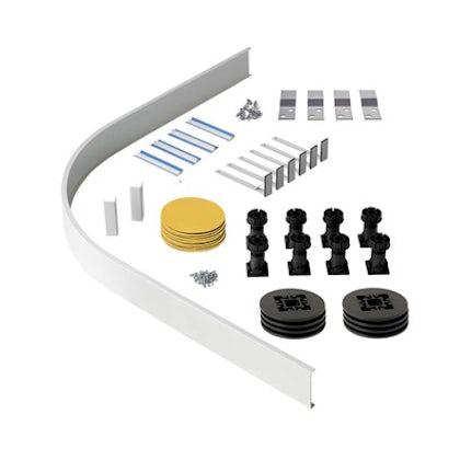 Riser kit for quadrant and offset quadrant stone shower trays