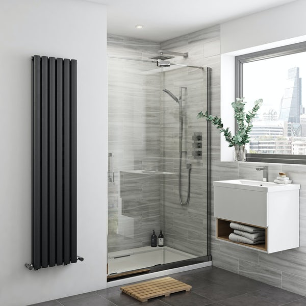 Glaser 8mm easy clean right handed sliding shower door
