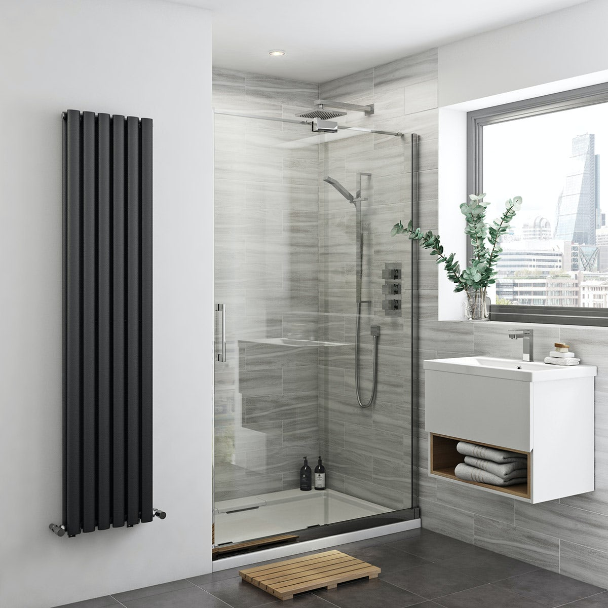 Mode Carter premium 8mm easy clean right handed sliding shower door 1400mm
