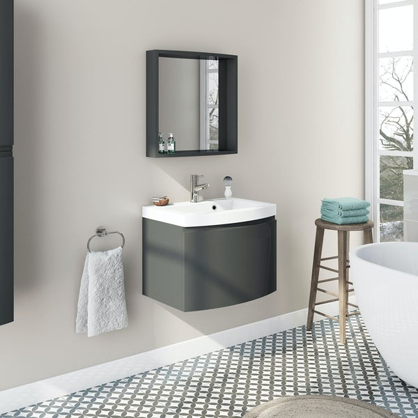 Harrison Slate Wall Unit and Mirror Offer