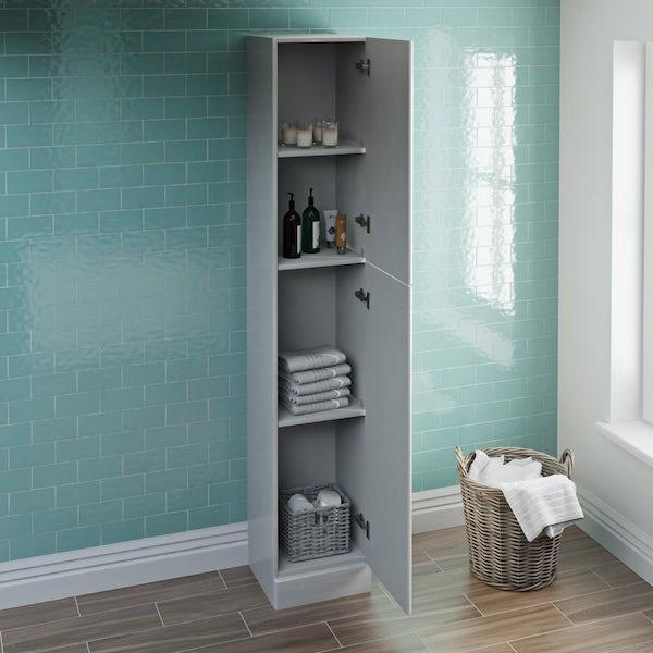Eden white tall storage unit 300mm