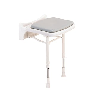 AKW 2000 series folding shower seat with grey pad