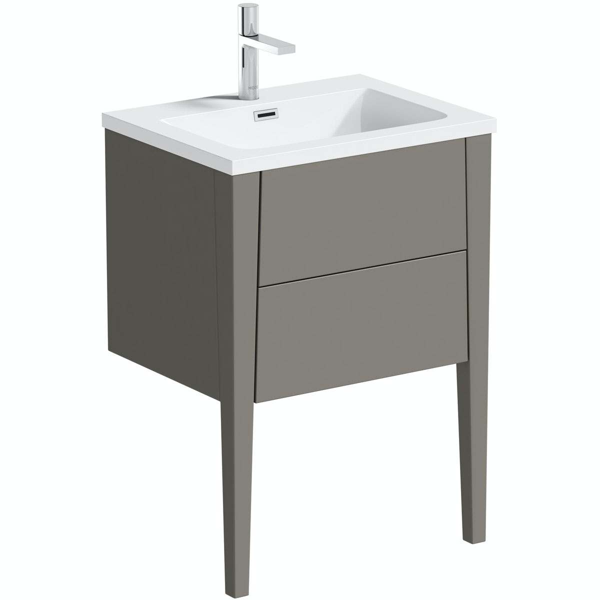 Mode Hale greystone matt vanity unit and basin 600mm