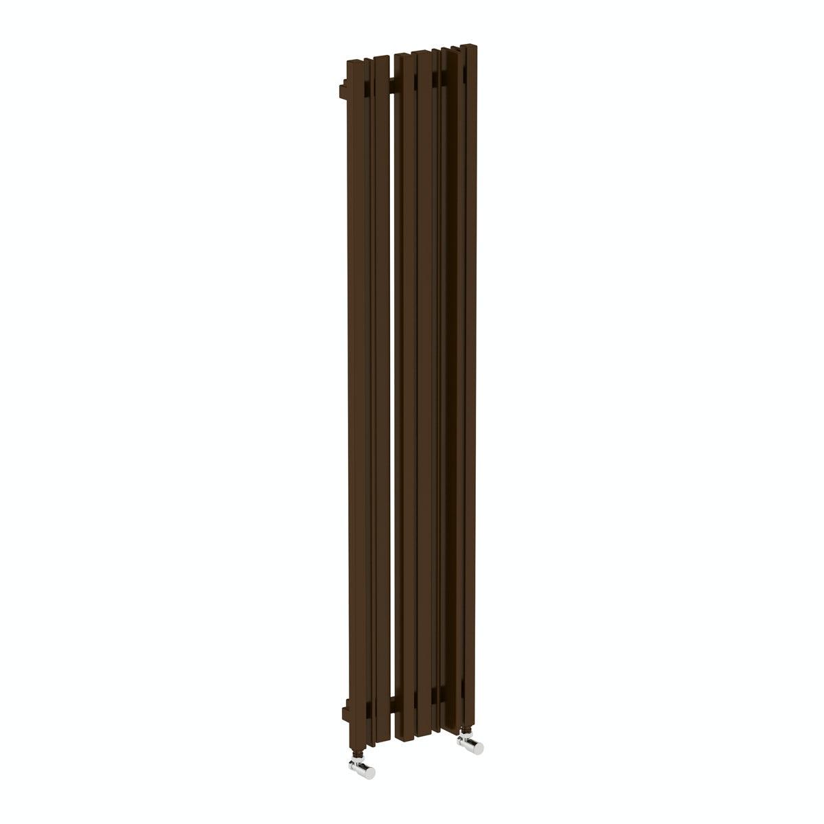 Sherwood terra brown vertical radiator 1600 x 330