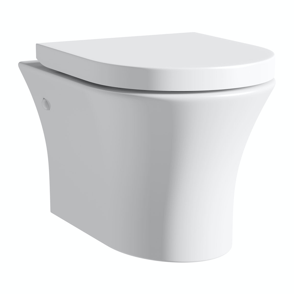 Mode Hardy rimless wall hung toilet with soft close seat