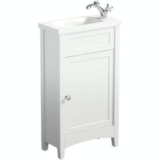 Camberley white cloakroom vanity with resin basin