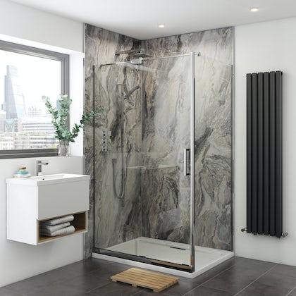 Multipanel Classic Cappuccino Stone Hydrolock shower wall panel