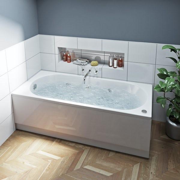 Mode Richmond single end 6 jet whirlpool bath 1700 x 700