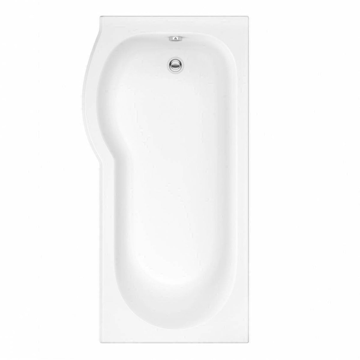 orchard p shaped left handed shower bath victoriaplum com evesham shower bath 1500 x 800 lh