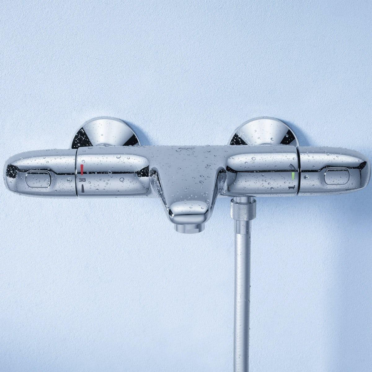 grohe bath shower mixer taps mobroi com grohe grohtherm 1000 thermostatic bath shower mixer tap