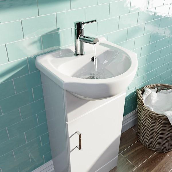 Eden white vanity unit and basin 410mm
