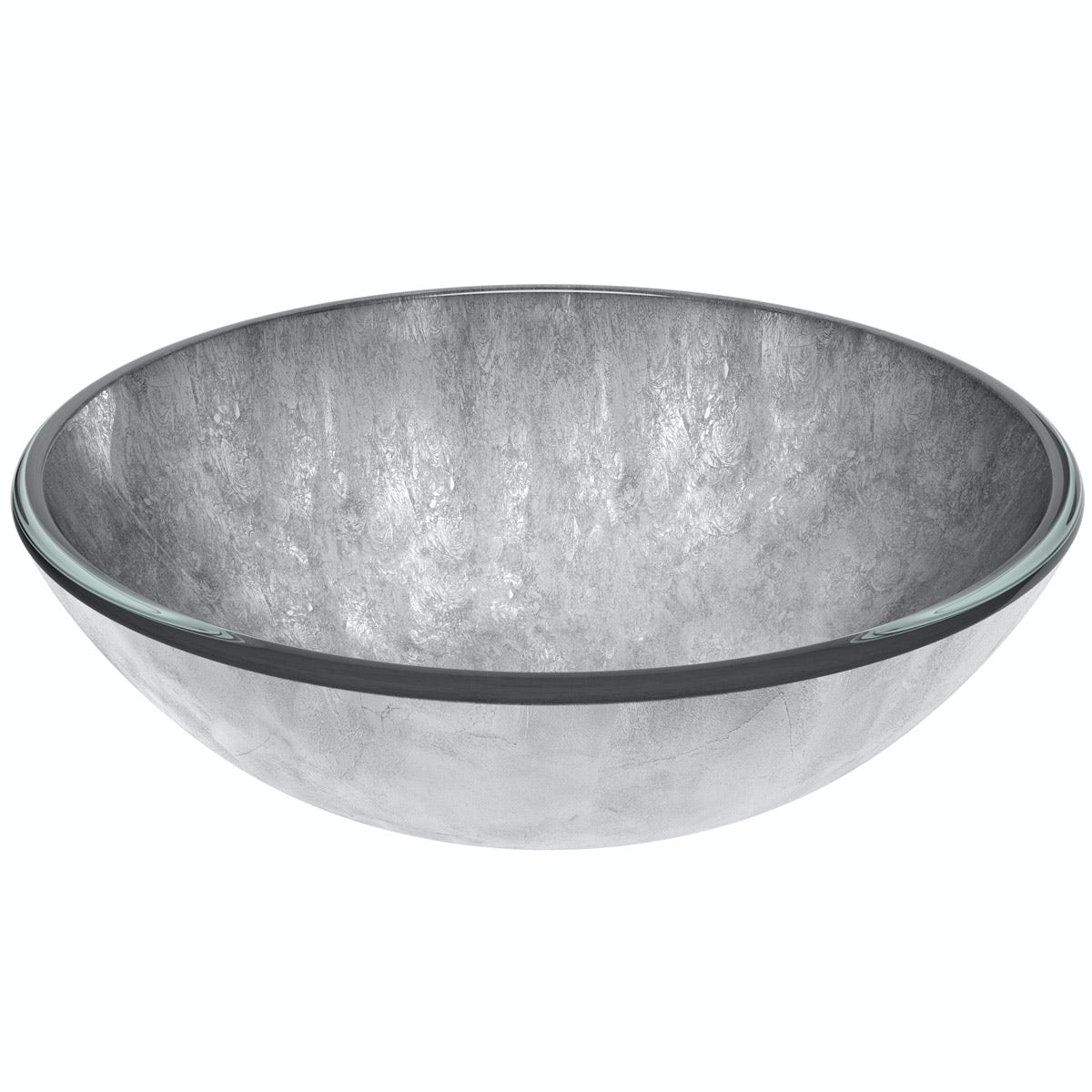 Mode Mackintosh silver foil glass countertop basin with waste