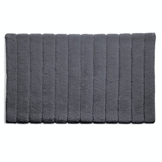 Hug Rug luxury bamboo stripe graphite bathroom mat 50 x 80cm