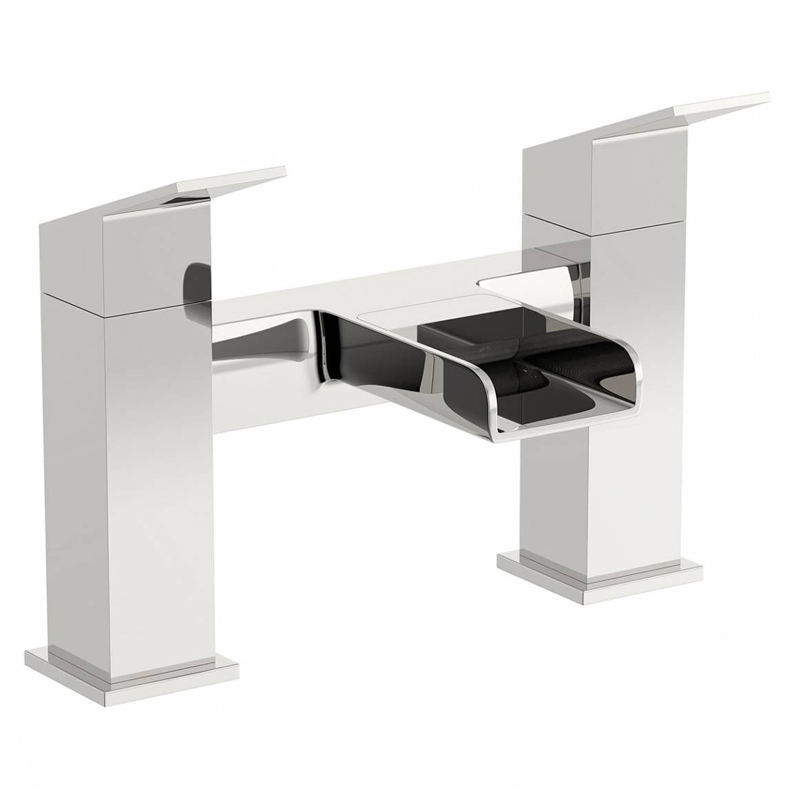 Orchard Wye waterfall bath mixer tap