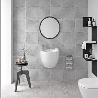 Ted Baker VersaTile matt mid grey wall and floor tile 331mm x 331mm