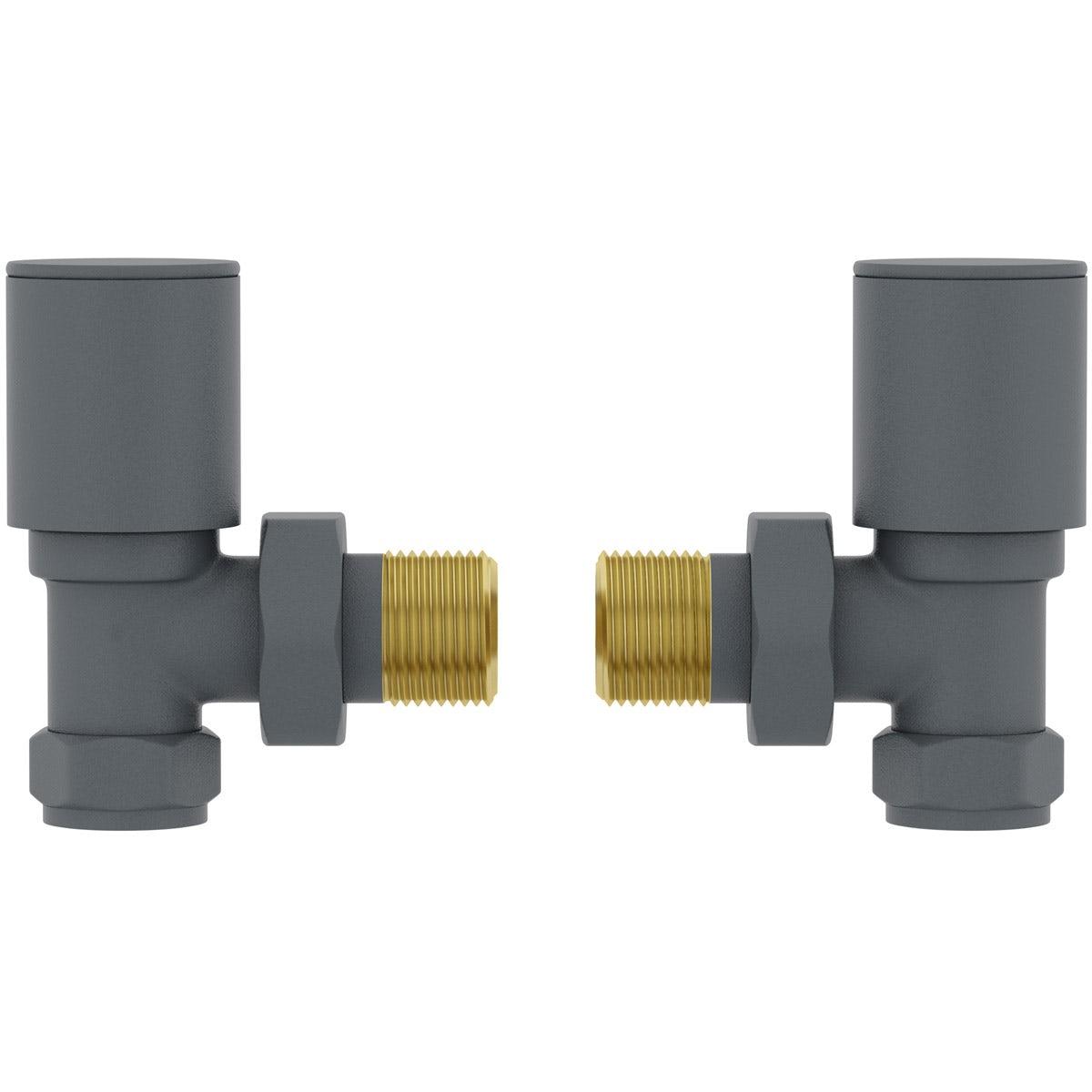 Orchard angled anthracite radiator valve