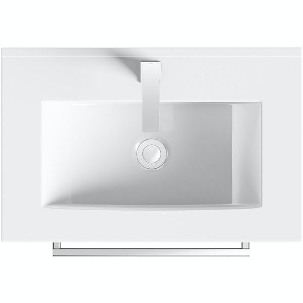 Orchard Derwent stone grey vanity drawer unit 600mm and mirror