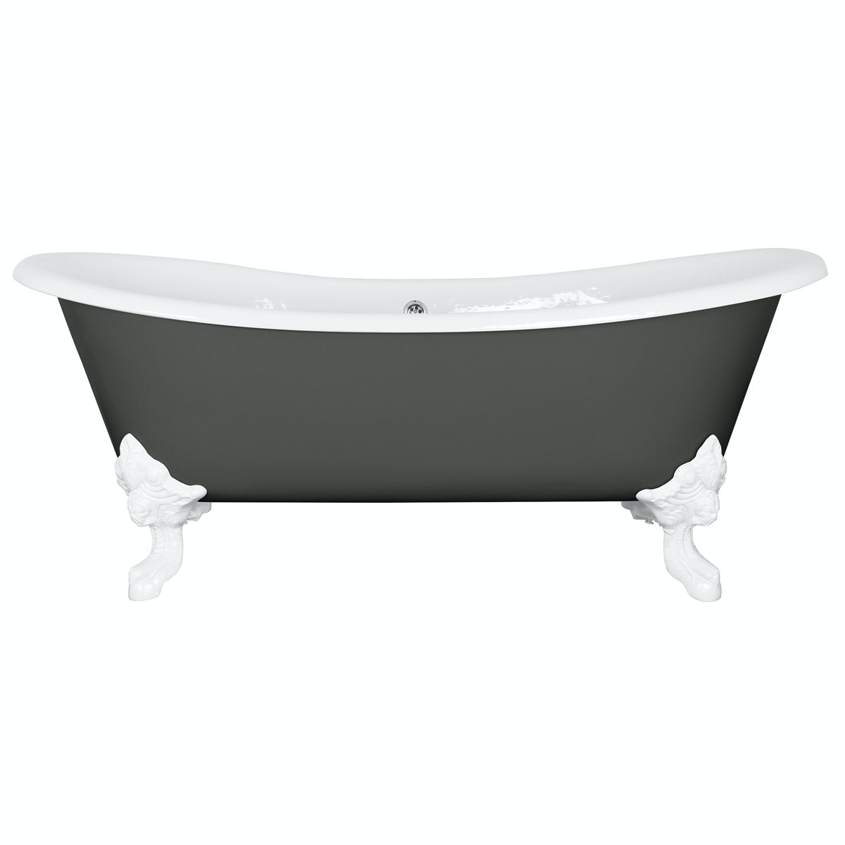 The Bath Co. Dover smoke grey cast iron bath