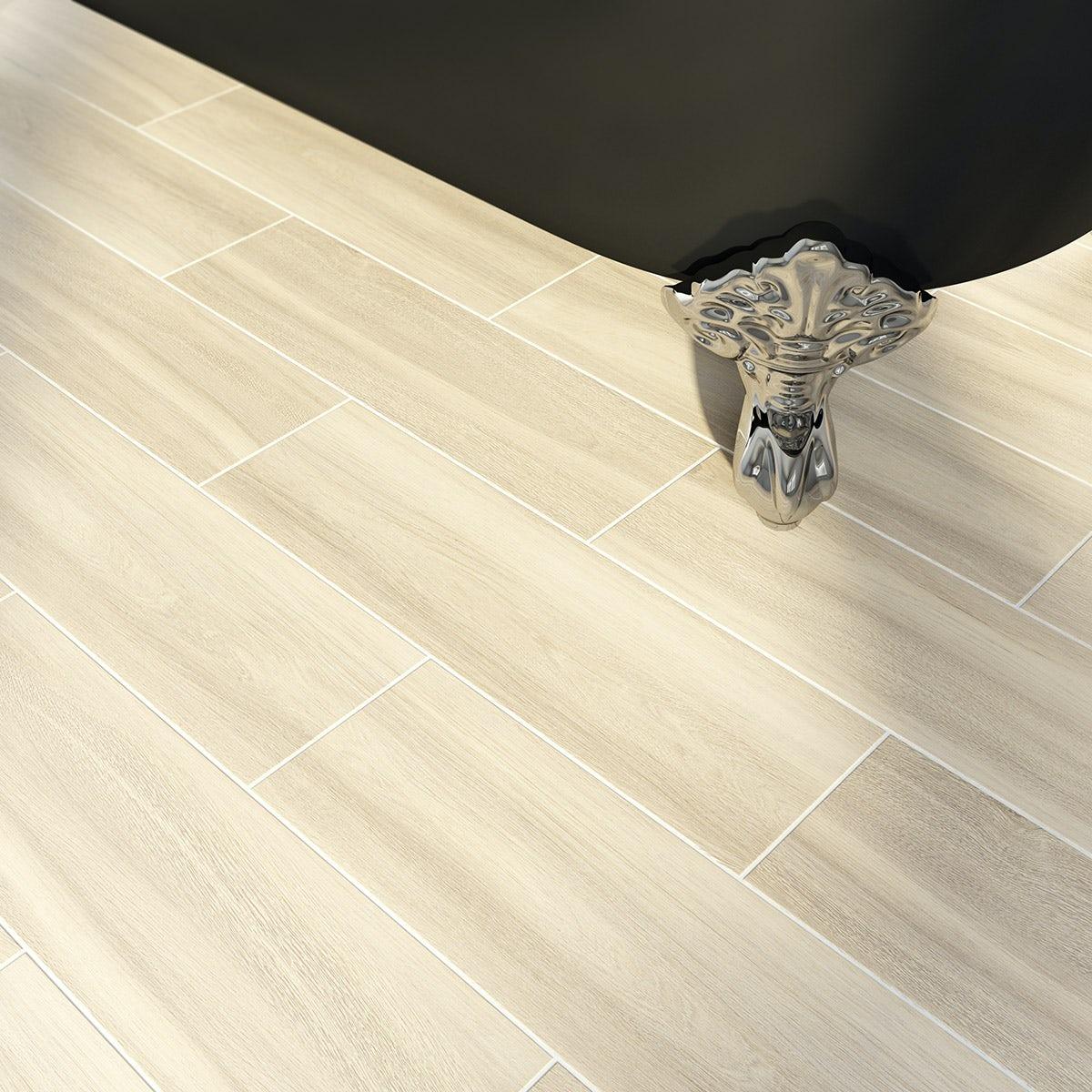 Bark natural wood effect beige matt tile 148mm x 498mm