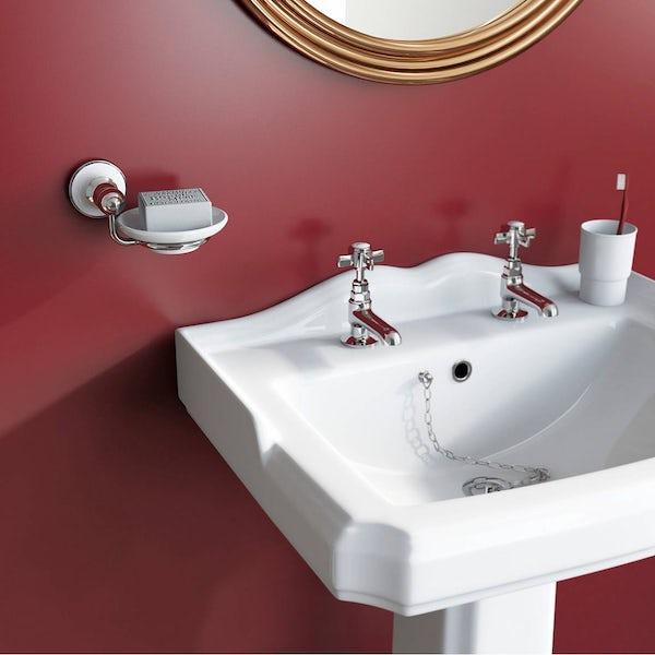 Winchester Ceramic Soap Dish & Holder