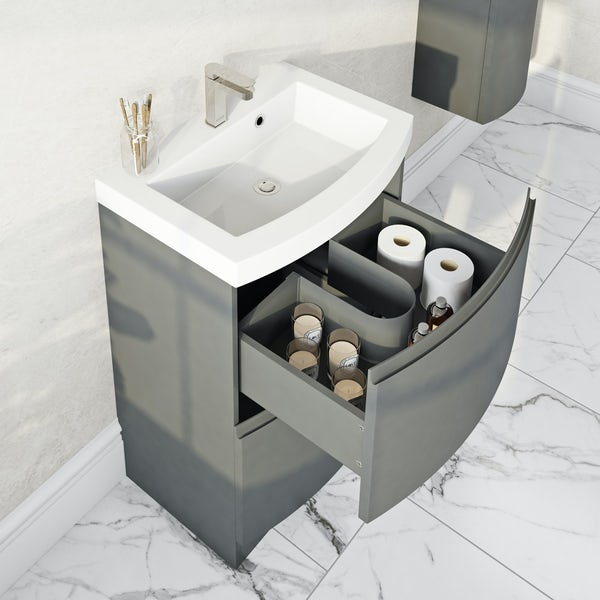 Mode Harrison slate vanity unit with basin 600mm