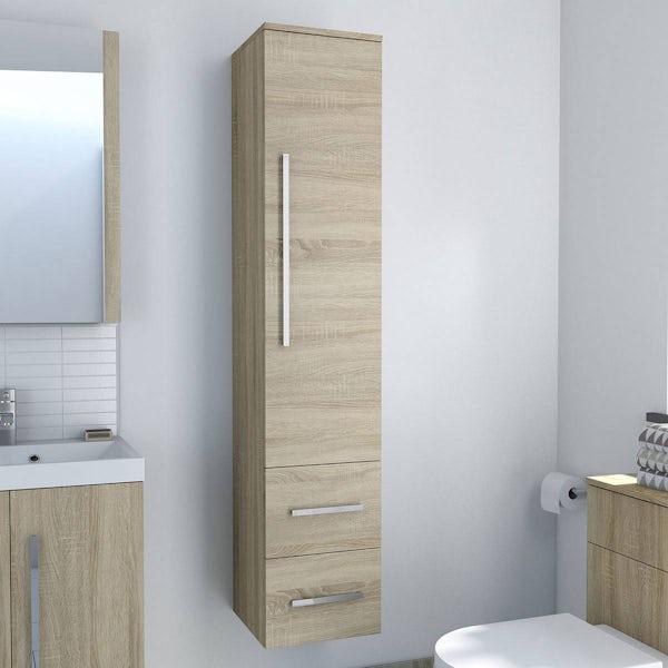 Drift Sawn Oak Tall Cabinet