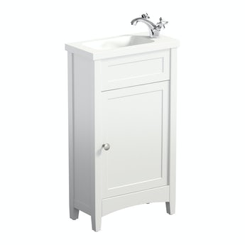 The Bath Co. Camberley white cloakroom vanity with resin basin