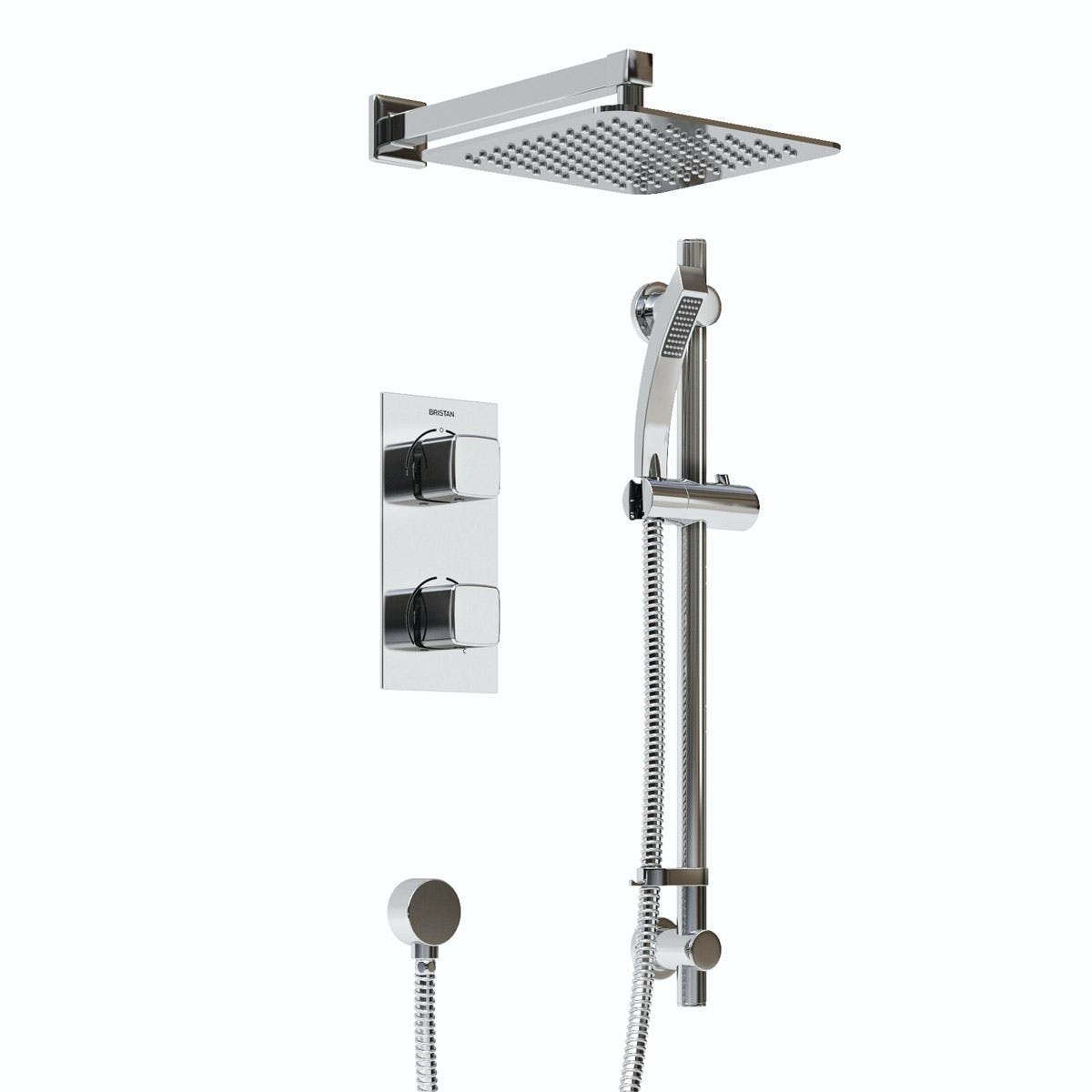 Bristan Cobalt concealed thermostatic shower set