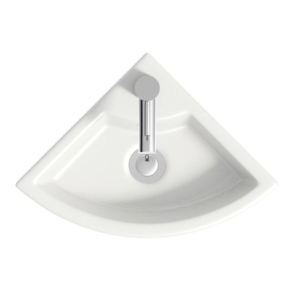 Harrison Snow corner vanity unit and basin