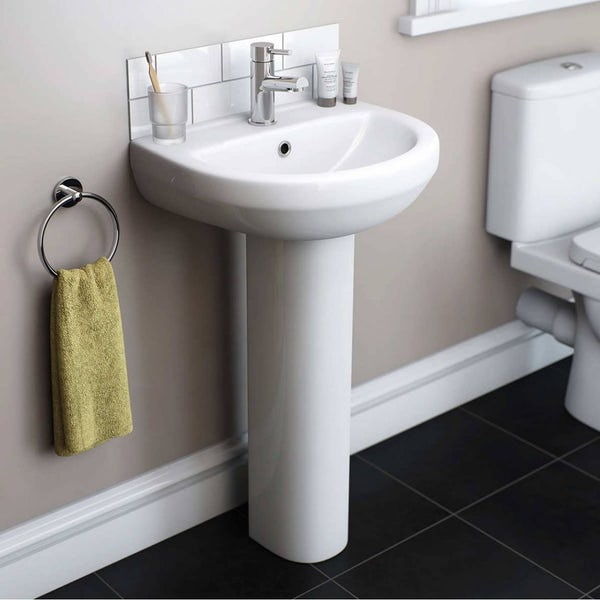 Eden bathroom suite with left handed L shaped shower bath 1700 x 850