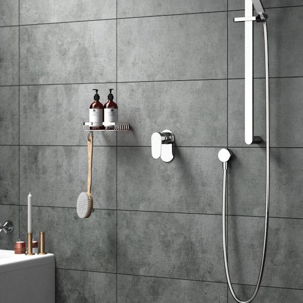 Round manual shower valve