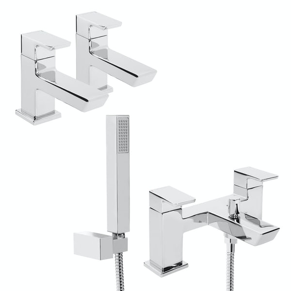 Bristan Cobalt basin tap and bath shower mixer tap pack