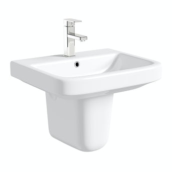 Mode Ive semi pedestal basin 550mm