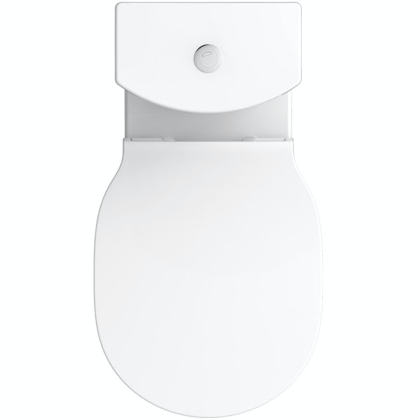 Ideal Standard Concept Air gloss and matt white vanity unit with open back close coupled toilet